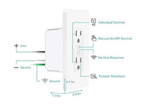 Kasa Smart KP200 Plug by TP Link