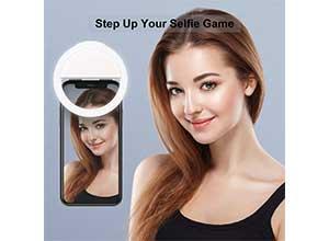 Selfie ring light LED circle clip