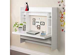 White Wall Mounted Desk
