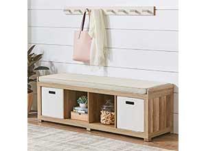 4 Cube Organizer Storage Bench