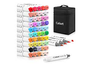 51 Colors Dual Tip Artist Brush Chisel Sketch Pens
