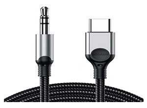 USB C to 3.5mm Audio Aux Jack Cable