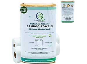 Bamboora All Purpose Reusable Paper Towels 2pcs