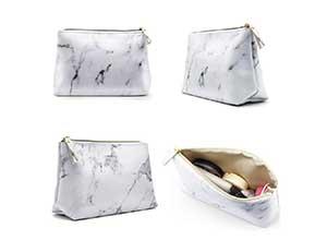 Waterproof Marble Travel Makeup Bag