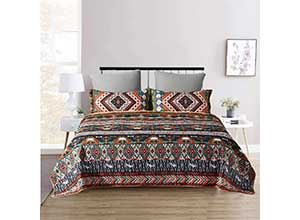 Boho Quilt Set Twin Size 2-Piece