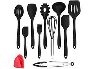 11-Piece Silicone Kitchen Utensils Cooking Set