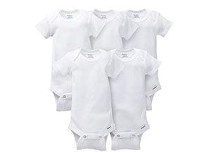 Gerber Baby 5 Pack Solid Onesies Bodysuits