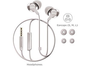 TCL ELIT200 Wired Headphones with Built-in Mic