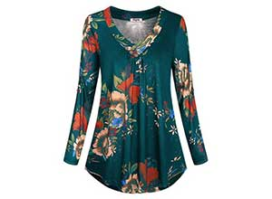 Long Sleeve Blouse Casual Flowy Tunic Tops
