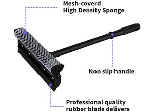 Windshield Squeegee Cleaning and Window Tool