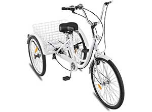 Adult Tricycle 1/7 Speed 3-Wheel for Shopping