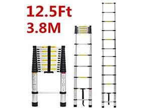 Lightweight Retractable Aluminum ladder
