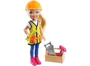 Playset with Blonde Chelsea Builder Doll