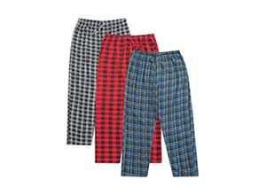 Real Essentials Mens 3-Pack Fleece Pajama Pants