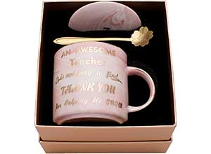 Pink Marble Ceramic Coffee Mugs