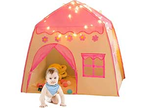 Girls Play Tent with Star Lights