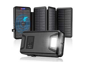 Solar Charger Power Bank 35800mAh