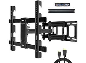 Wall Mount Full Motion TV Bracket with Height Setting