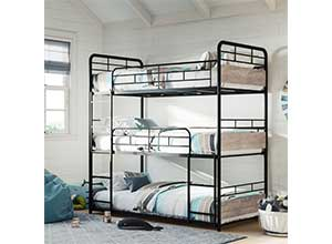 Metal Frame Anniston Triple Bunk Bed
