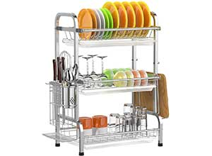 Stainless Steel Dish Drying Rack 3 Tier