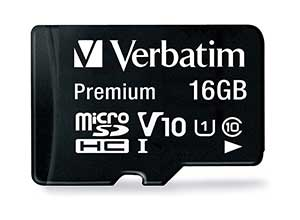 16GB Premium microSDHC Memory Card with Adapter