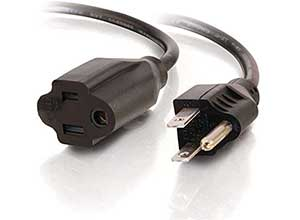 Long Extension Cord 16 AWG 8 Feet