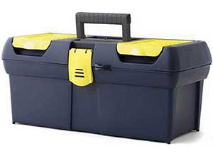 16 Inch Toolbox with 2 Lid Organizer