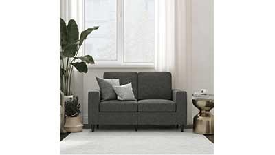 DHP Cooper Loveseat Gray Linen