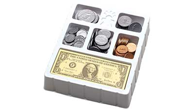 Educational Insights Play Money Coins and Bills Set