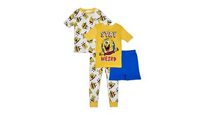 SpongeBob Boys Pajama Set, 4-Piece