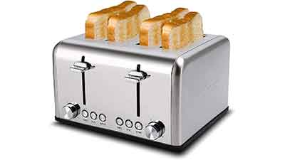 CUSIMAX Stainless Steel Toaster 4 Slice