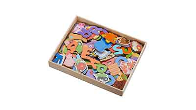 Wooden Magnetic Pieces 131 Count