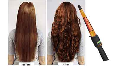 Ceramic Hair Curling Wand with Digital Control