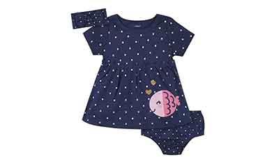 Gerber Baby Girls 3 Piece Dress Set