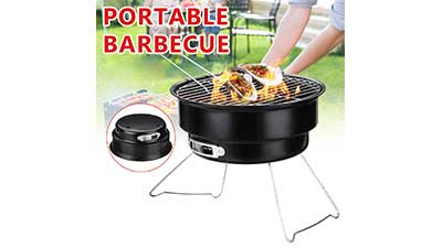 11 in All-in-One Portable Tabletop Charcoal BBQ Grill