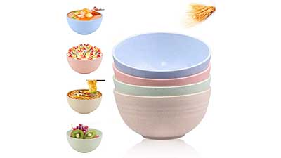 Cereal Bowl Large 24 OZ Set of 4