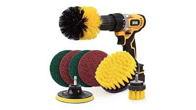 Holikme 8 Piece Drill Brush Attachment Set
