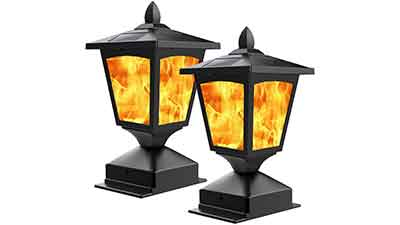 Solar Flickering Flame Light for Fence