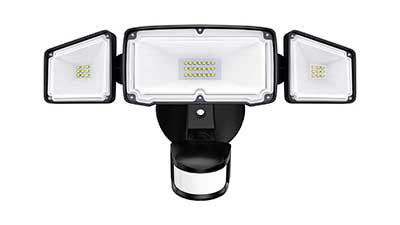 Amico 3 Head LED Security Lights Motion Sensor
