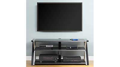 Whalen Black TV Stand for 65inch Flat Panel TVs