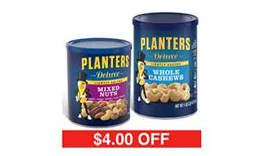 Planters Lightly Salted Deluxe Whole Cashews