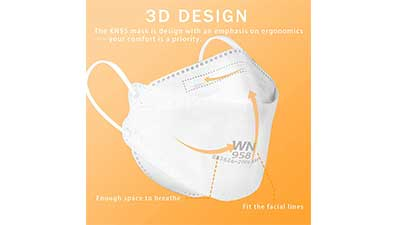 KN95 Face Mask 50Pcs for Small Face