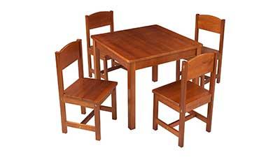 KidKraft Wooden Farmhouse Table Set