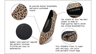 Breifola Womens Shallow Mouth Flat Shoes