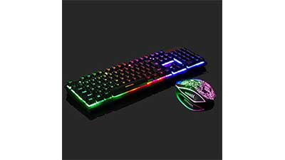 Rainbow Gaming Keyboard and Mouse Set
