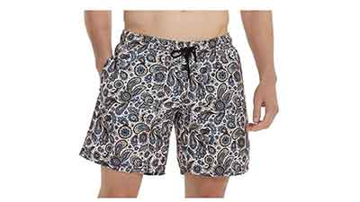 Bellivera Mens Beach Shorts with 2 Pockets