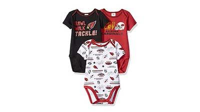 NFL Baby Boys 3 Pack Short Sleeve Bodysuit