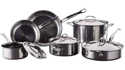 Hestan SS 10-Piece Titanium Ultimate Cookware Set