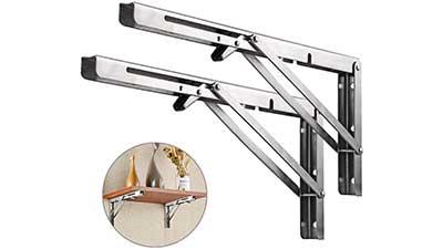 Stainless Steel Folding Shelf Brackets