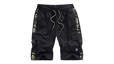 Vcansion Mens Casual Cotton Loose Fit Cargo Shorts